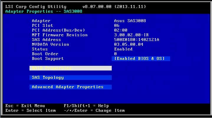 Свойства адаптера - Adapter Properties