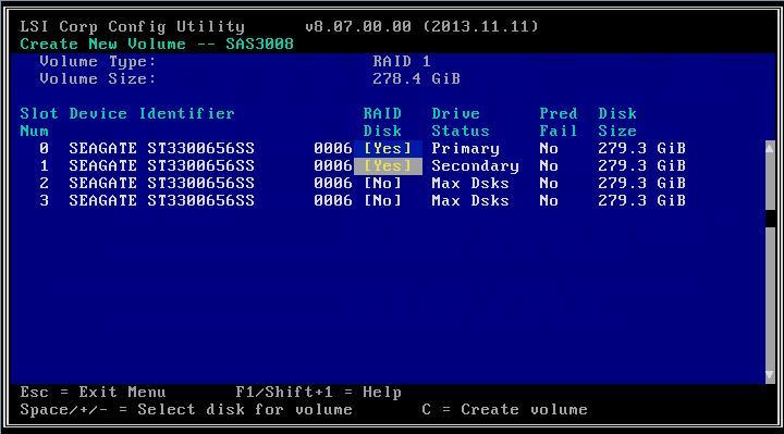 7. Если выбранный диск не содержит файлов или данных, утилита добавляет диск в массив.