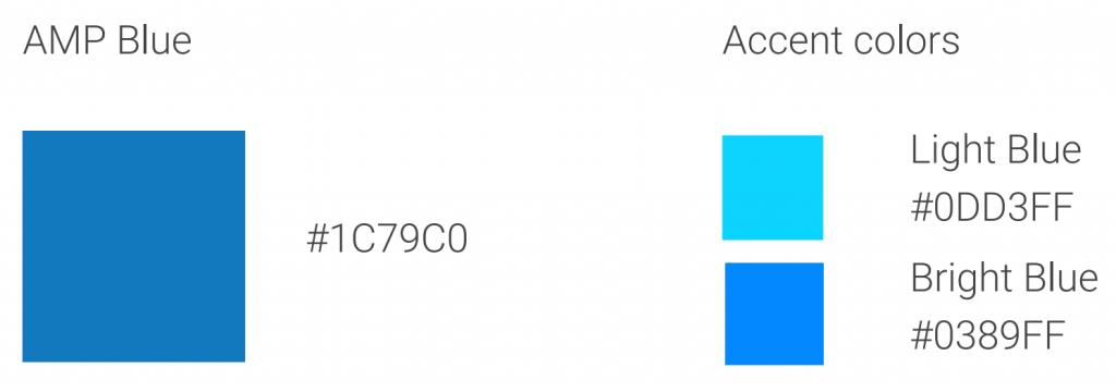 Доступны только два цвета AMP значка