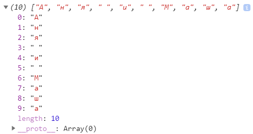 JavaScript Array.from из строки