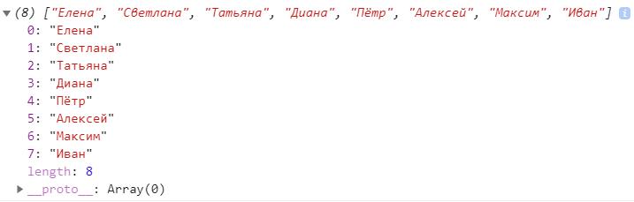 Склеенный массив из двух массивов в JavaScript