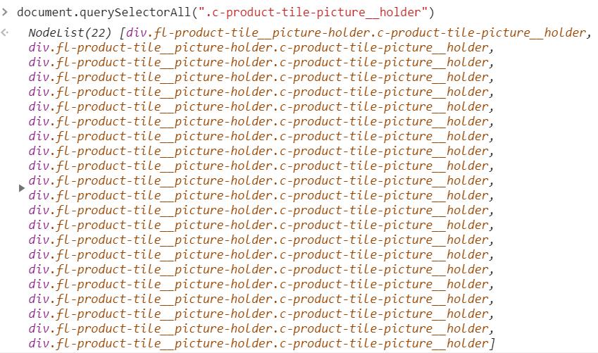 22 элемента с классом c-product-tile-picture__holder - JavaScript