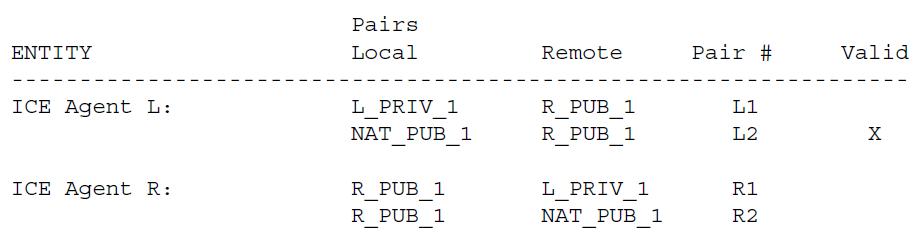 Агент L инициирует проверку соединения для пары L1