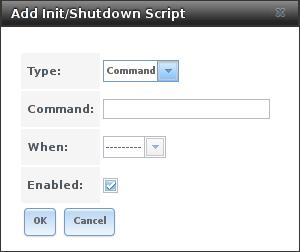 Добавить скрипт Init или Shutdown в FreeNAS