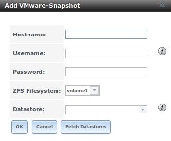 Добавление моментального снимка VMware в FreeNAS