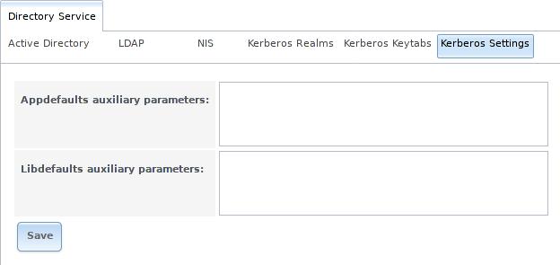Дополнительные настройки Kerberos в FreeNAS