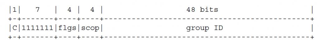 Формат адреса многоадресной рассылки