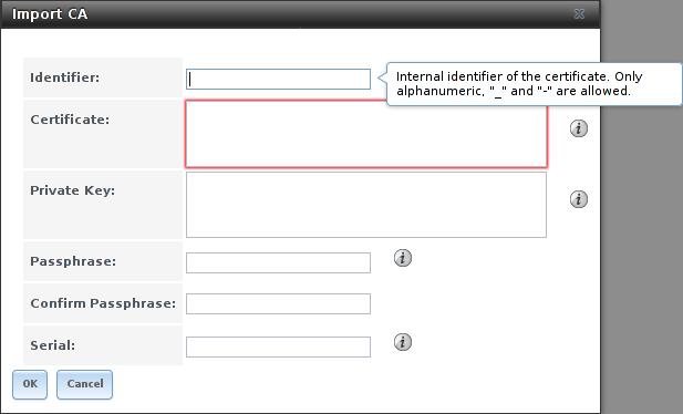 Импорт центра серстификации в FreeNAS
