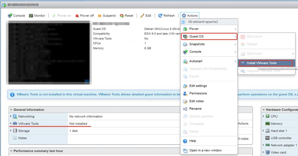 Как установить VMware Tools на виртуальную машину