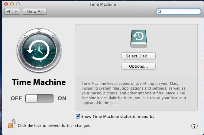 Настройка машины времени на Mac OS X Lion