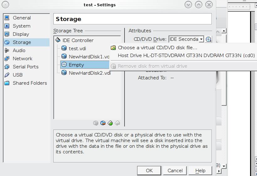 Настройка установочных носителей ISO Virtualbox в FreeNAS