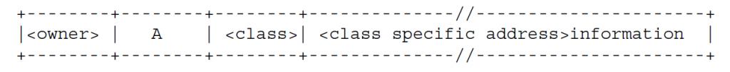 Рисунок 2 - Первый тип записи ресурса содержит привязку имени хоста к адресу хоста
