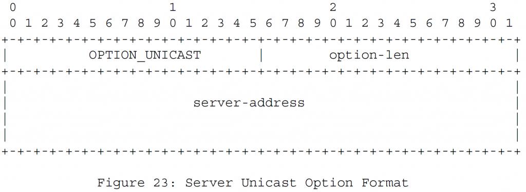 Рисунок 23 - Формат одноадресной передачи сервера
