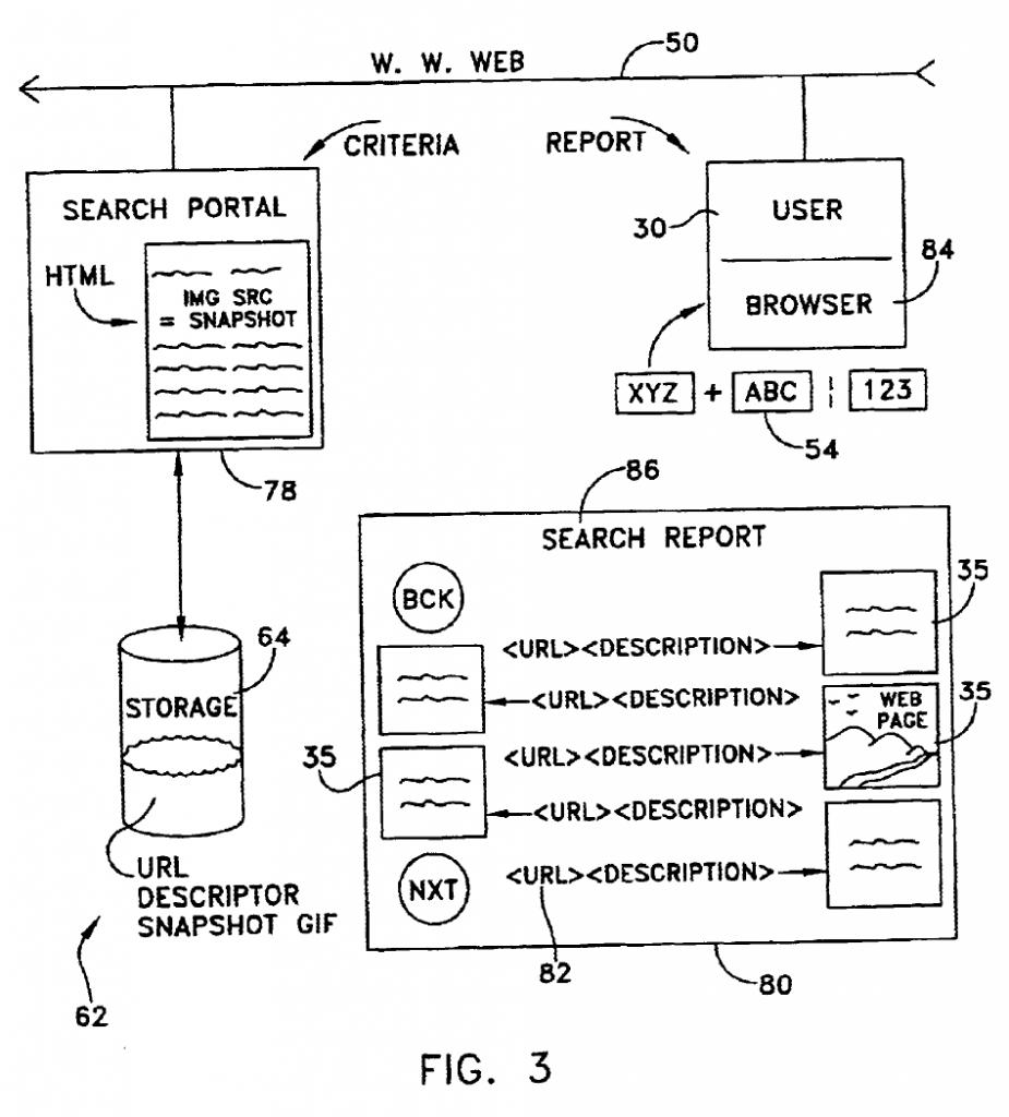 Рисунок 3 - Блок-схема, иллюстрирующая работу изобретения в связи с выполнением и сообщением результатов поиска.