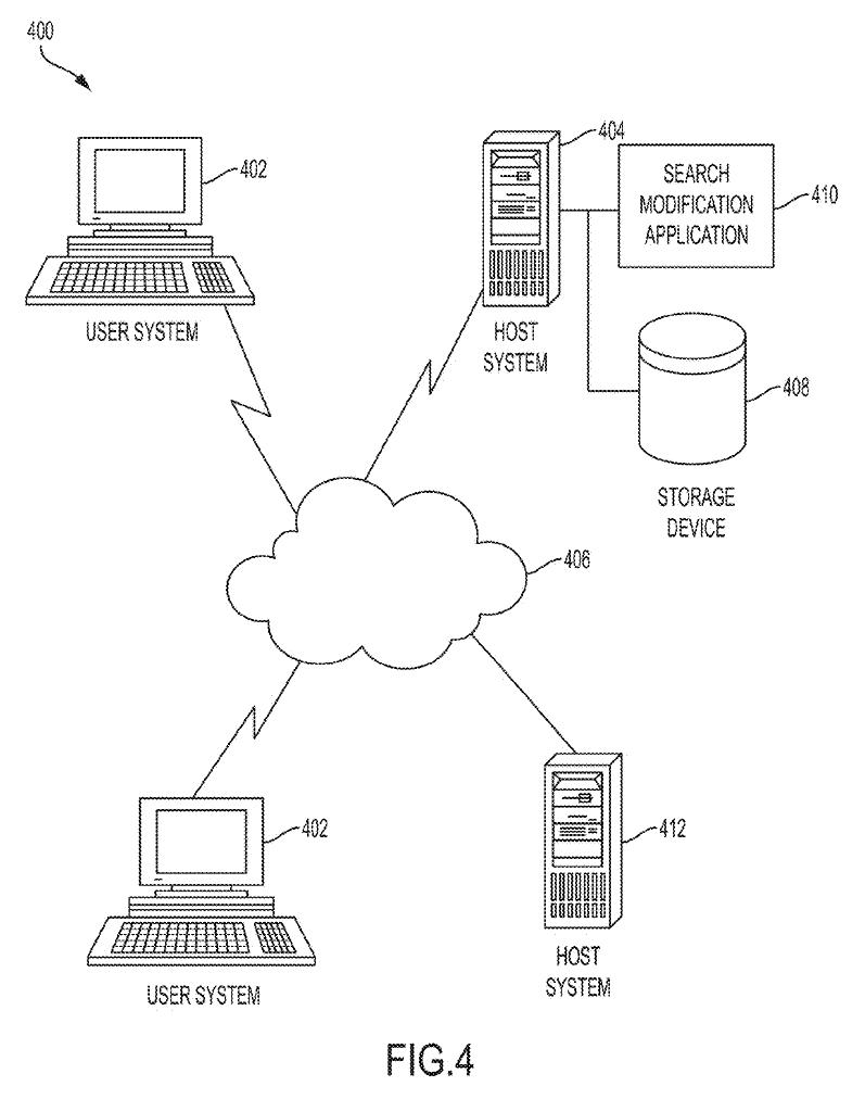 Рисунок 4 - блок-схема системы для улучшения результатов поиска на основе истории поиска в соответствии с вариантом осуществления