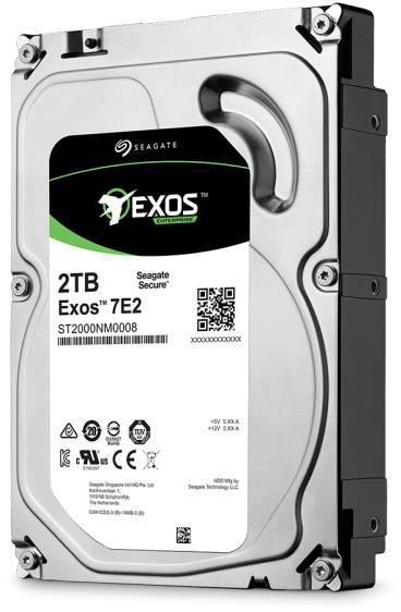 Жёсткий диск Seagate Exos 7E2 HDD вид сбоку