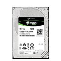 Жёсткий диск Seagate Exos 7E2000 HDD вид спереди