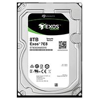 Жёсткий диск Seagate Exos 7E8 HDD вид спереди