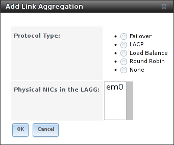 Создание lagg интерфейса в FreeNAS