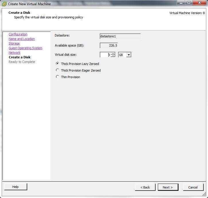 Создать диск для операционной системы