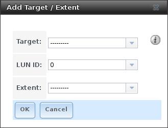 Связывание Таргета с Экстентом в FreeNAS