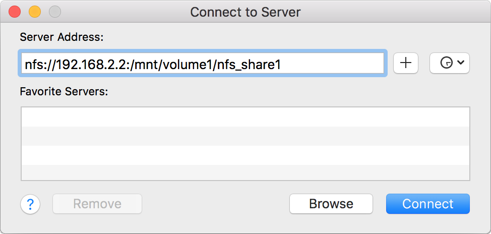Установка NFS Share из macOS