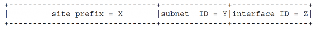 Внутри-сайтовый маршрутизатор, который знает, что один из его адресов имеет формат