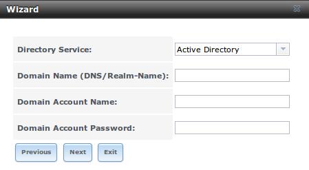 Выбор службы каталогов в FreeNAS