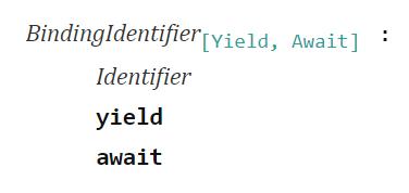 BindingIdentifier - ECMAScript