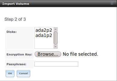 Расшифровка дисков перед импортом пула ZFS