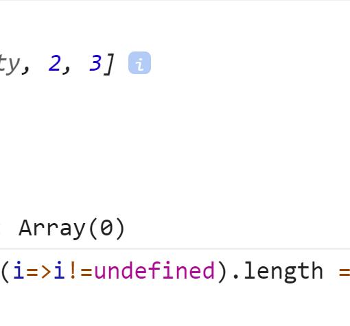 Длины массивов не совпадают - значит есть дырка - JavaScript