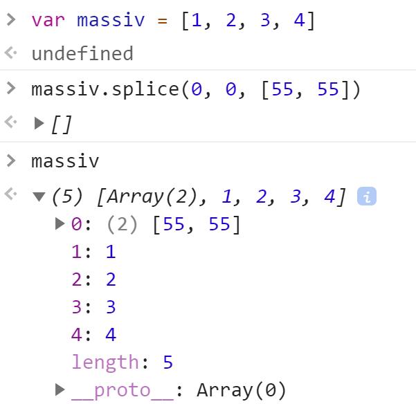 Добавили массив в начало другого массива - JavaScript