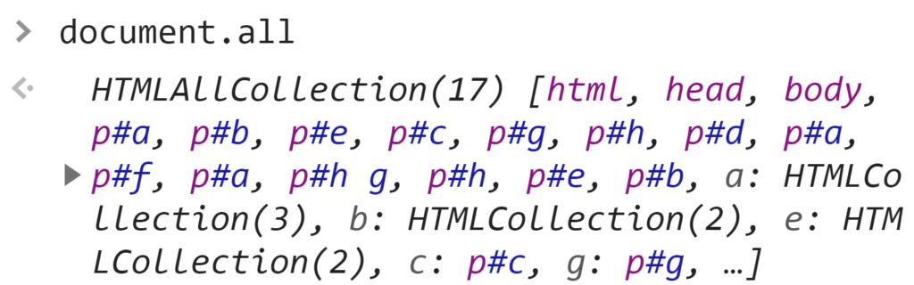 document.all - JavaScript