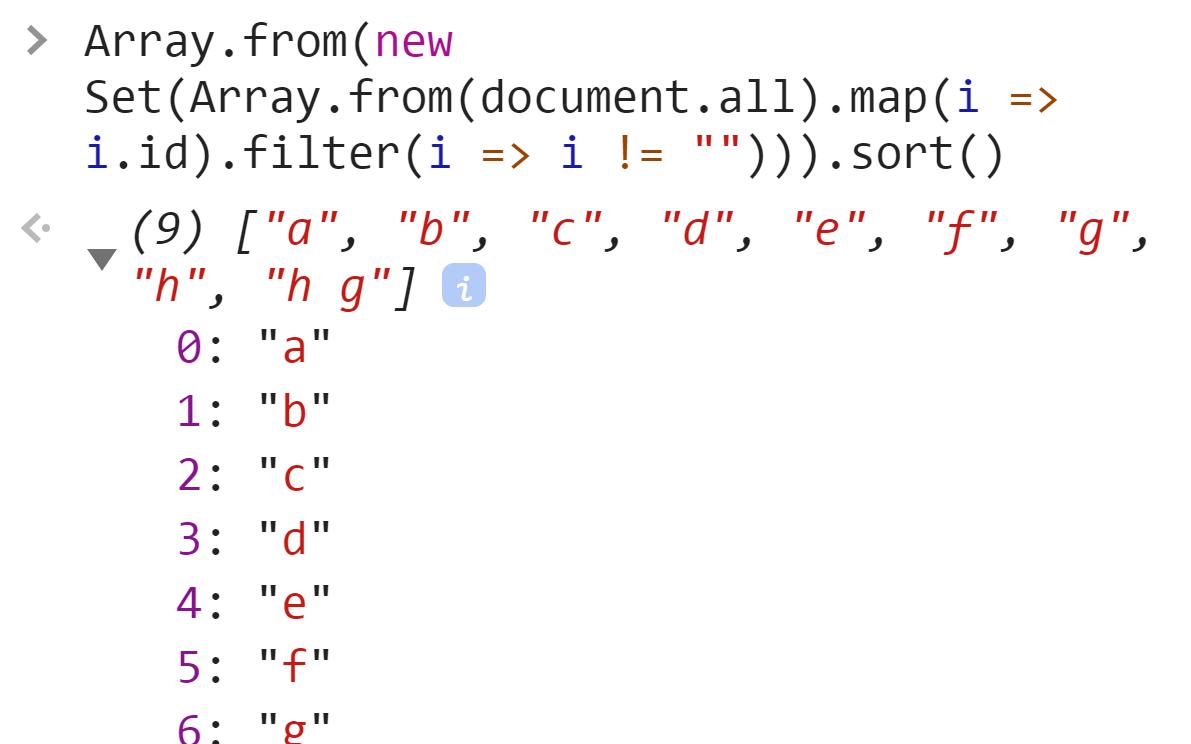 Элементы массива отсортированы - JavaScript