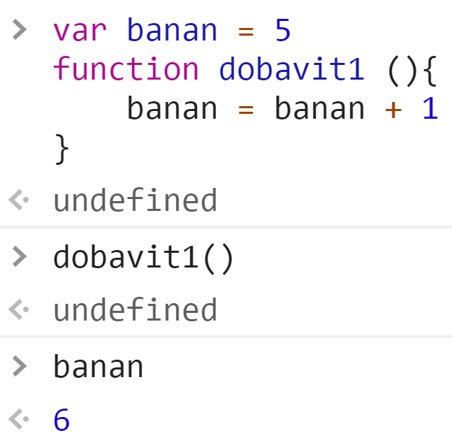 Функция dobavit1 - JavaScript