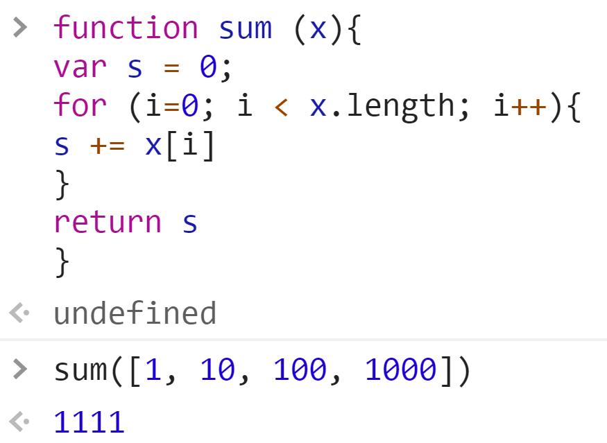 Функция сложения чисел в массиве - Все элементы числа - JavaScript