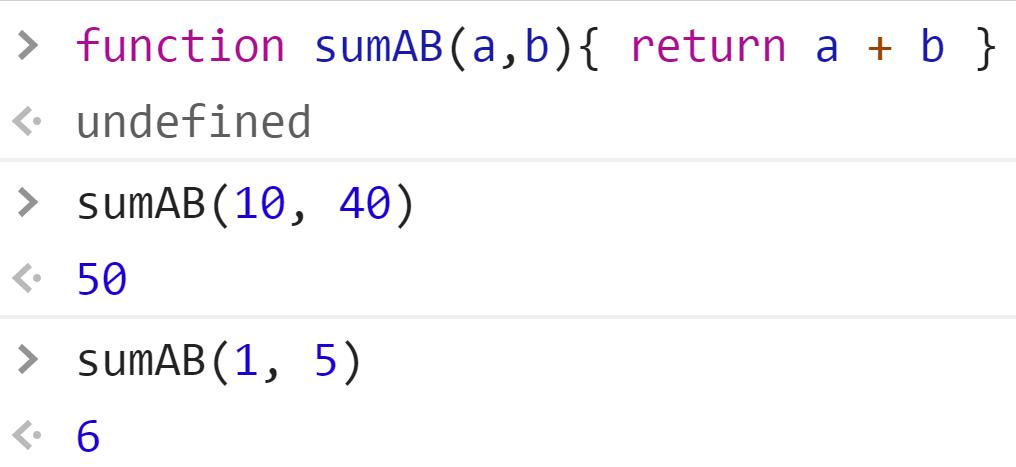 Функция сложения двух чисел - JavaScript