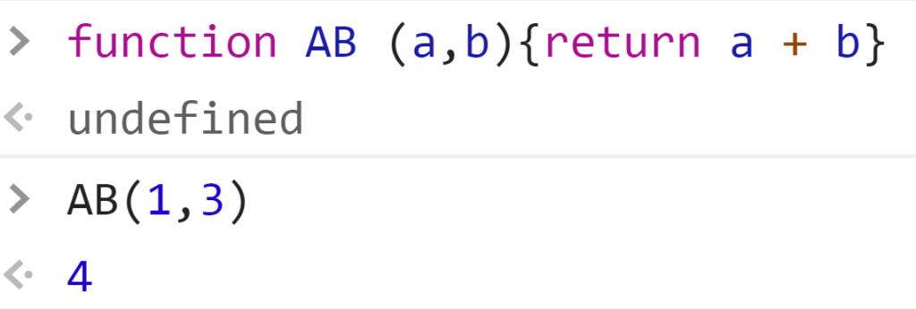 Функция сложила два числа и вернула итоговое значение - JavaScript