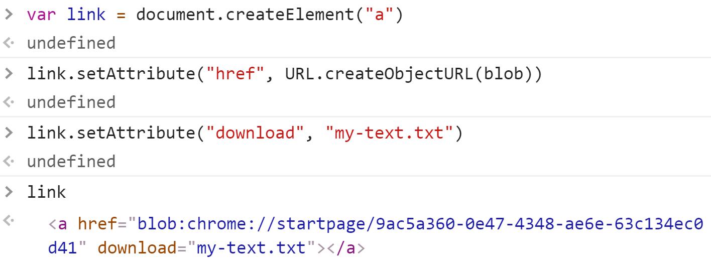 Готовая ссылка для клика - JavaScript