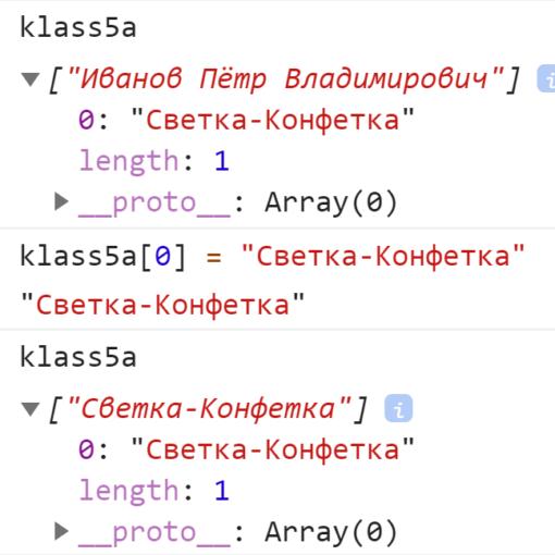 Индекс массива помог нам переназначить значение элемента - JavaScript