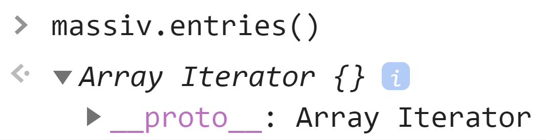 Итератор массива - JavaScript