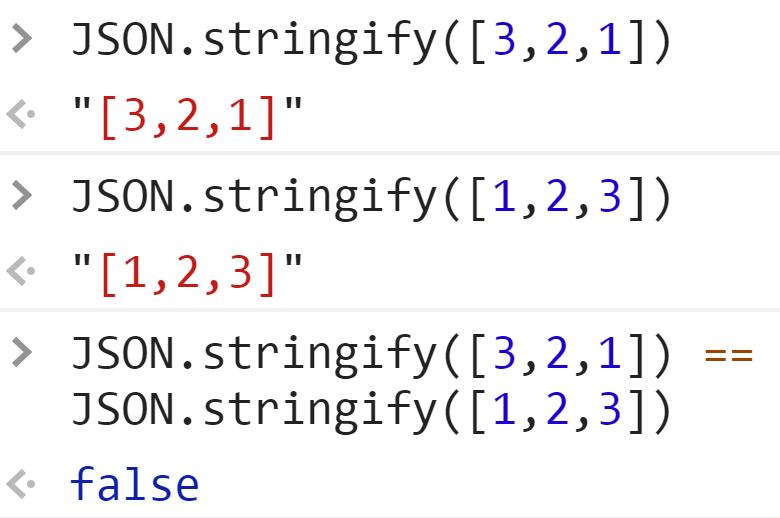 JSON.stringify не сортирует элементы массивов - JavaScript