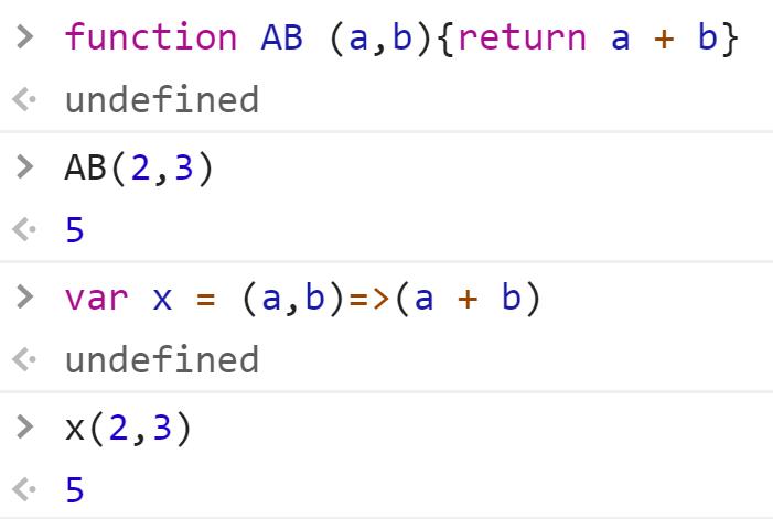 Классическая функция с оператором return - стрелочная без - JavaScript