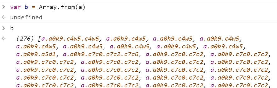 Массив из 276 элементов a - JavaScript
