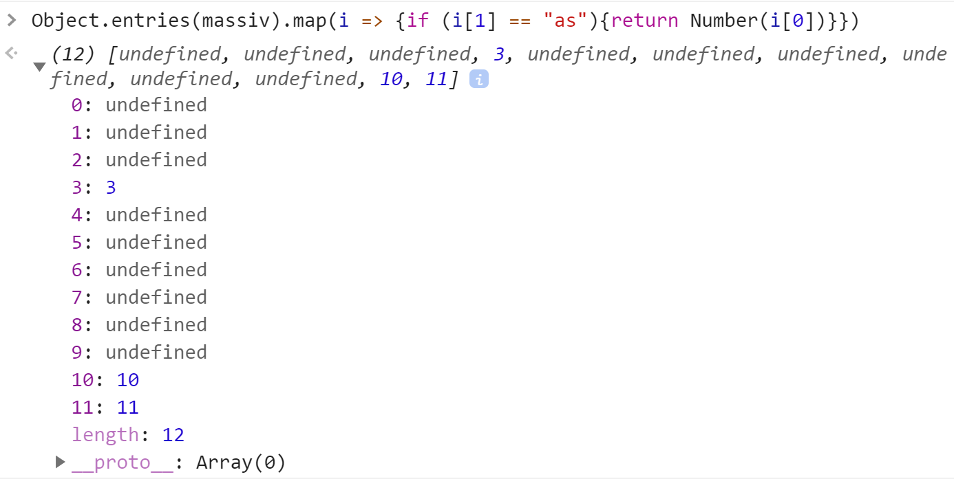 Массив из map с undefined c Number - JavaScript