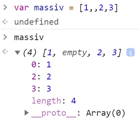 Массив с дыркой - JavaScript