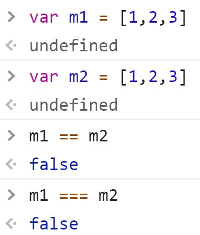 Массивы не равны - хотя они одинаковые по содержанию - JavaScript