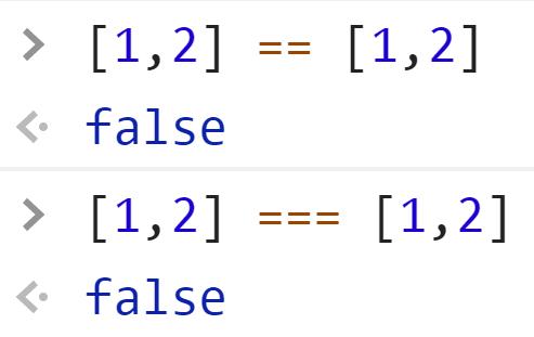 Массивы не равны - JavaScript