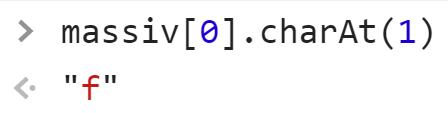 Метод charAt прототипа String - JavaScript