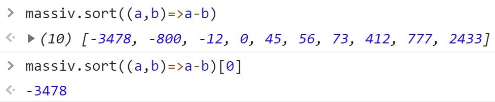 Минимальное число в массиве - JavaScript